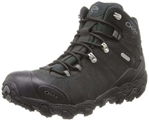 Oboz Men's Bridger BDRY Hiking Boot,Black,10.5 M US