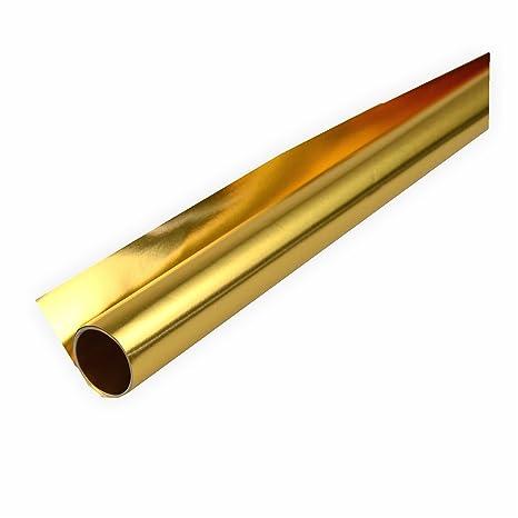 Alufolie gold/gold doppelseitig kaschiert 50x70 cm Bastelfolie