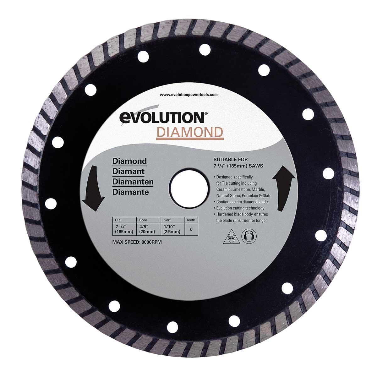 Evolution power tools 12bladedm 12 inch diamond blade amazon greentooth Image collections