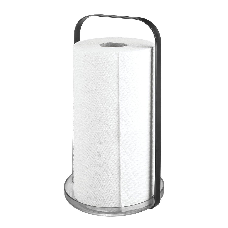 frutero de Cocina Redondo de Metal InterDesign iDesign Austin Cesta met/álica con Porta Bananas 27,4 cm x 20,1 cm Negro Mate