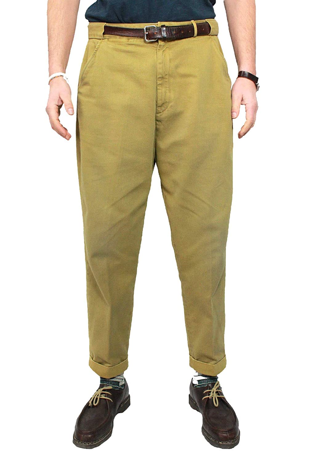 LEVI'S VINTAGE CLOTHING Chino cloth man mod 1920's mustard color 100% cotton (31)