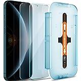 Spigen Tempered Glass Screen Protector [Glas.tR EZ FIT] Designed for iPhone 12 Pro Max - Sensor Protection [2 Pack]