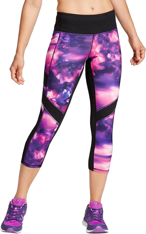 C9 Champion Women S Freedom Capri Leggings X Small Purple Pink Pixel Mesh At Amazon Women S Clothing Store