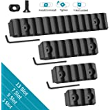 Compatible with Mlok Picatinny Rail 3 5 7 13 Slots Aluminum Picatinny Rails Section Adapter for M LOK Systems with 9 T…