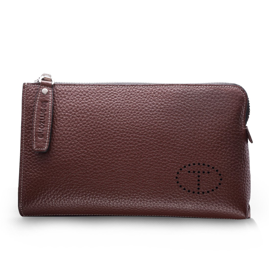 Teemzone Men's Top Genuine Leather Business Clutch Bag with Wristlet TEECL3316