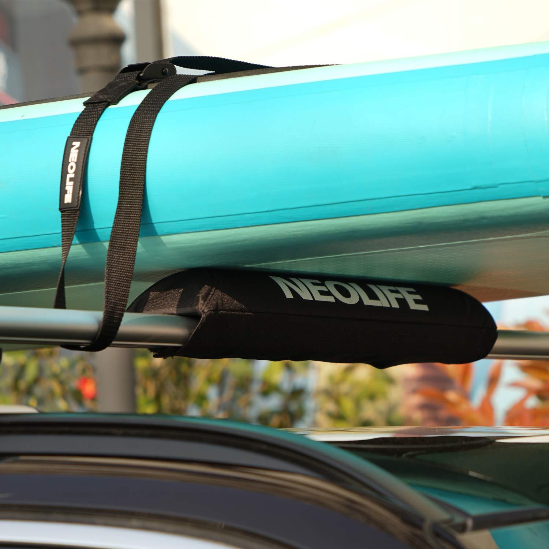 Pair Neolife Surfboard Kayak SUP Surf Roof Rack Tie Down Straps Cam Buckle Lashing Strap 15FT Black