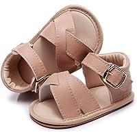 Baby Girls Sandals Rubber Sole Non-Slip Summer Outdoor Toddler Girl Sandals Flat Shoes Infant Cute Little Kids First…