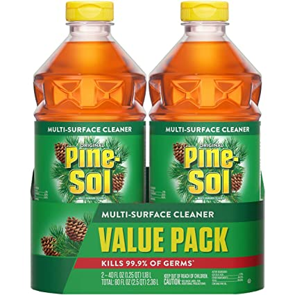 Amazon Com Pine Sol All Purpose Cleaner Original Pine 40 Ounce Bottles Pack Of 2 Packaging May Vary Industrial Scientific