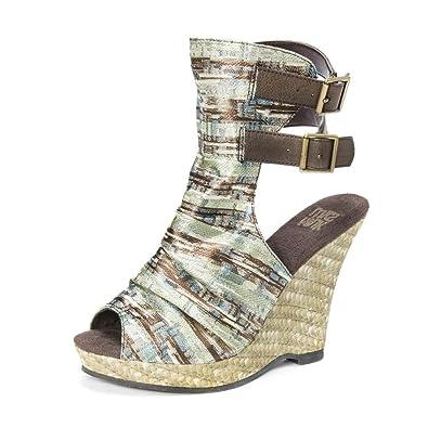 MUK LUKS Sage Women's ... Espadrille Wedge Sandals qnQhY430L