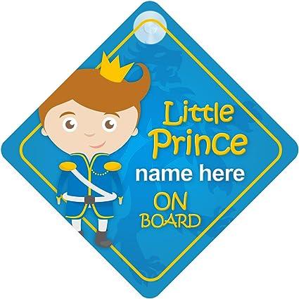 Personnalisé Bébé à Bord Voiture Signe notre petit prince