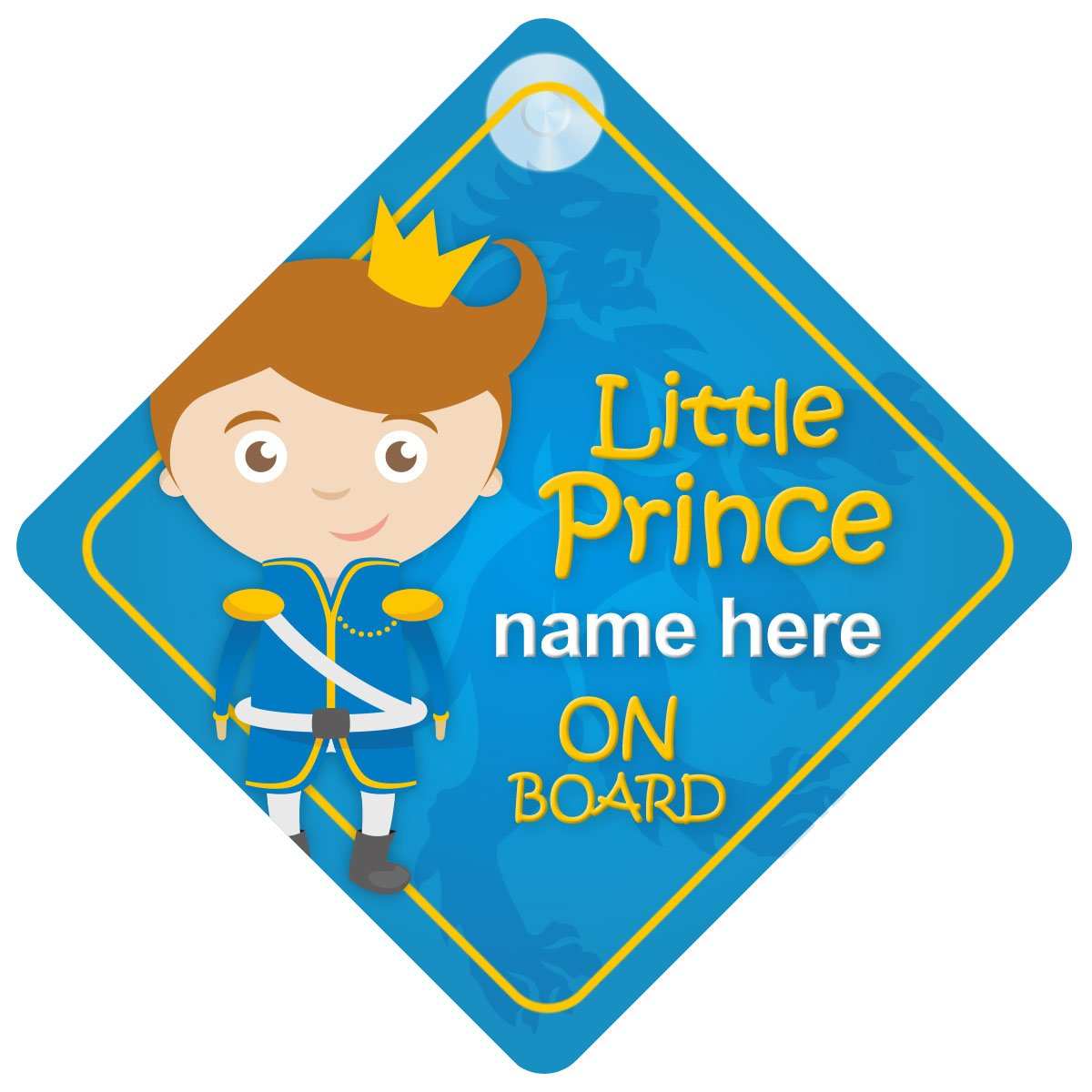 Little Prince On Board Personalised Car Sign New Baby Boy / Child Gift / Present BLP009 Quality Goods Ltd