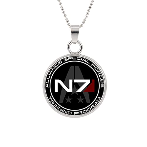 Amazon.com: N7 Mass Effect collar con colgante personaje ...
