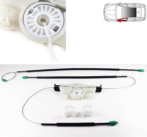 Kit De Réparation De Lève Vitre électrique Avant Gauche Câbles De Régulation De Vitre Clips Poulie Poulie Boîtier Auto