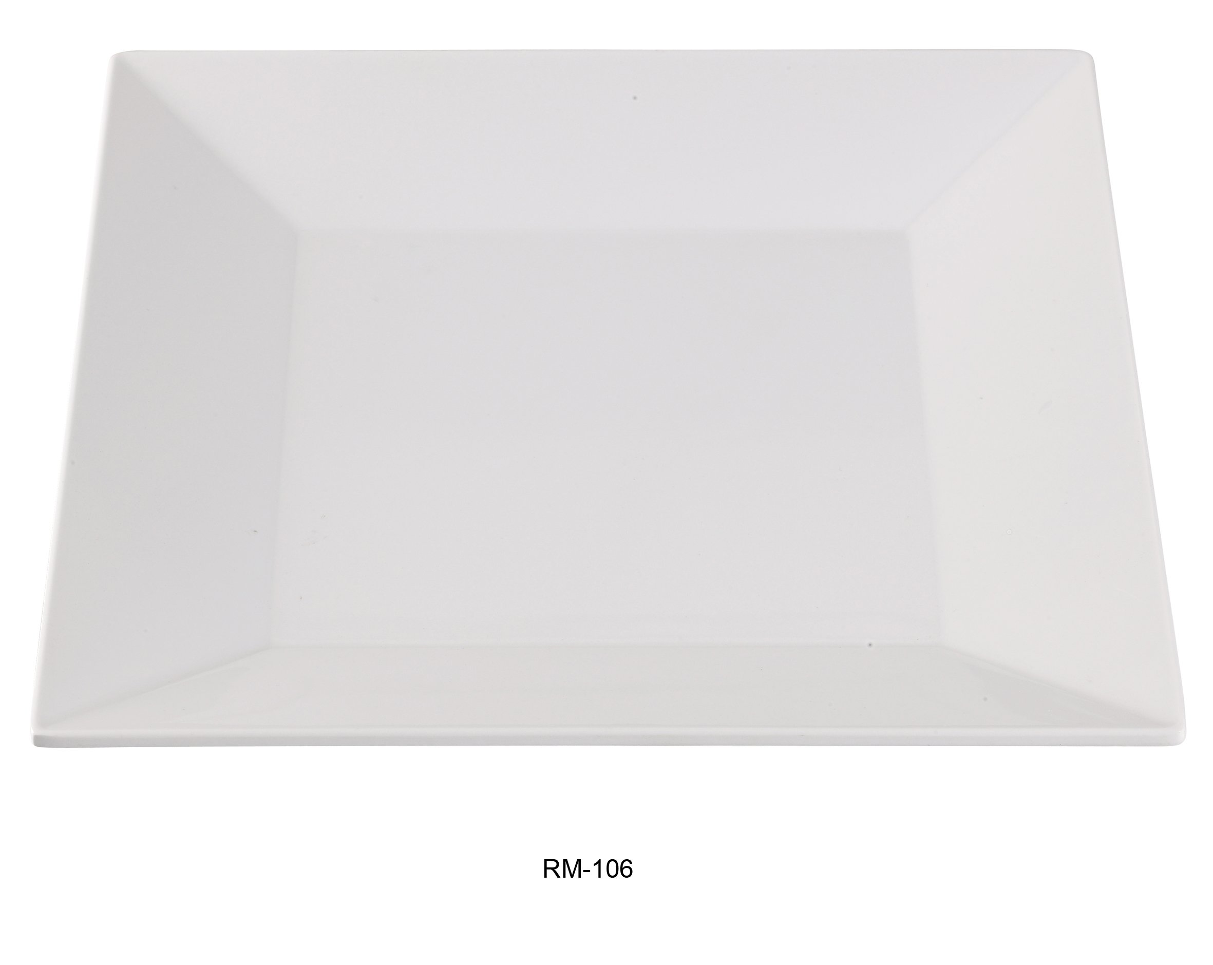 Yanco RM-106 Rome 6'' Square Plate, Melamine, White Color, Pack of 48