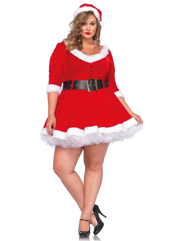Amazon.com: Leg Avenue Women\'s Plus-Size Miss Santa: Clothing