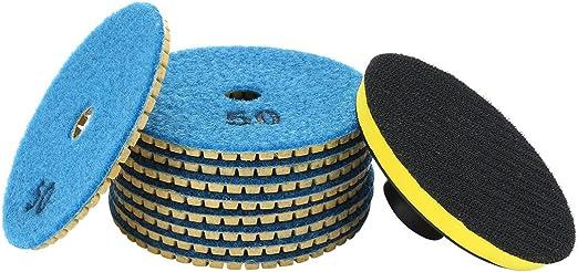 4-inch Diamond Wet Polishing Sanding Grinding Pads Disc 10 in 1 w Rubber Backer