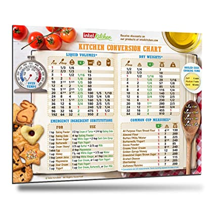 Amazon Cool Kitchen Conversion Chart Magnet 8x11 50 More