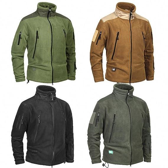 Clothing Coat Men Thicken Warm Military Army Fleece Jacket Patchwork Multi Pockets Polartec Mens Jacket and Coats at Amazon Mens Clothing store: