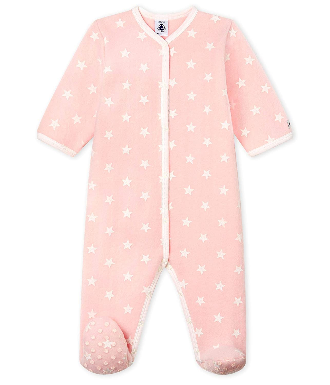 Petit Bateau Baby-M/ädchen Schlafstrampler
