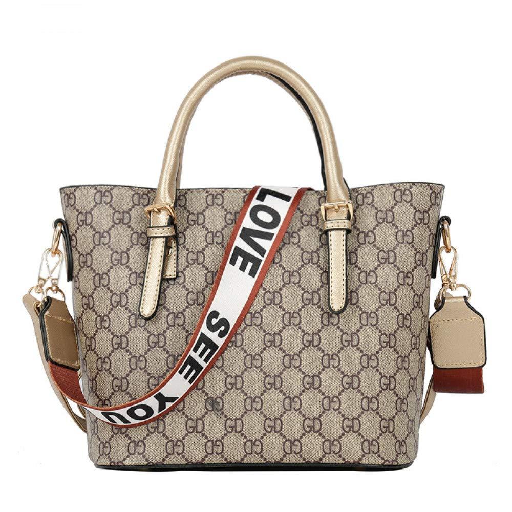 LFGCL Bag weiblichen neuen großen Kapazität Mode Eimer Tasche europäischen europäischen europäischen und amerikanischen Stil Druck alte Blaume Umhängetaschen B07NJ6CZN2 Ruckscke Einfaches Leben b2777a