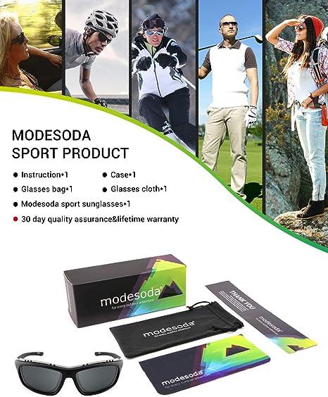 Amazon.com: modesoda Men Women Sports Sunglasses for Cycling ...