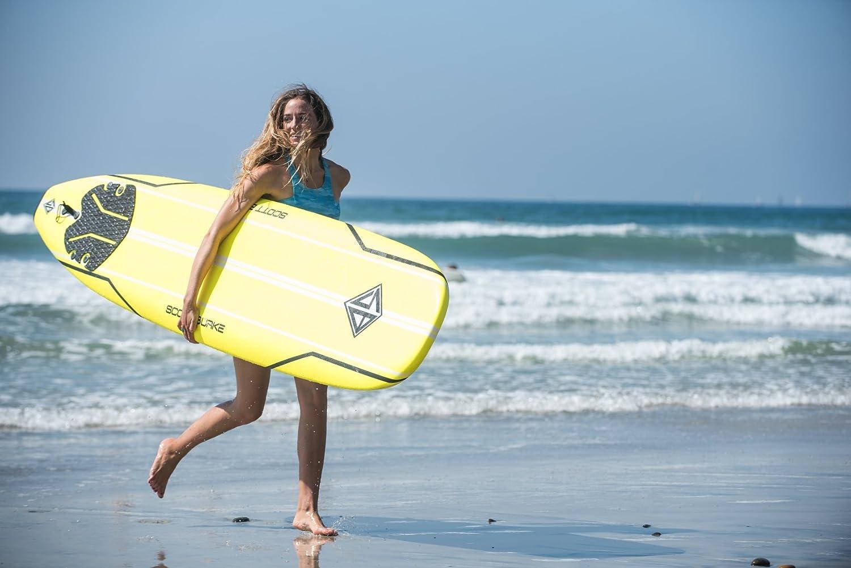 Amazon.com : Scott Burke Soft Surfboard Package, White, 9 ...