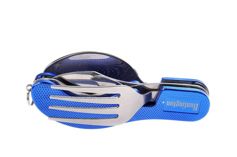 Huntington, set de cubiertos de 4 piezas de metral (tenedor, cuchillo, cuchara, abrebotellas) de color azul, K544-02 DE product image