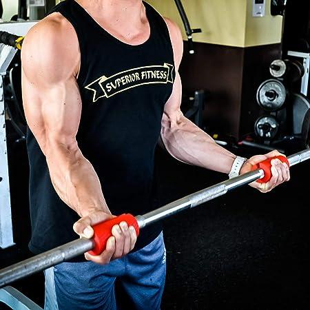 Mango para Mancuernas - Thick Grip para aumentar tu masa muscular en tus brazos y mejorar el agarre: Amazon.es: Deportes y aire libre