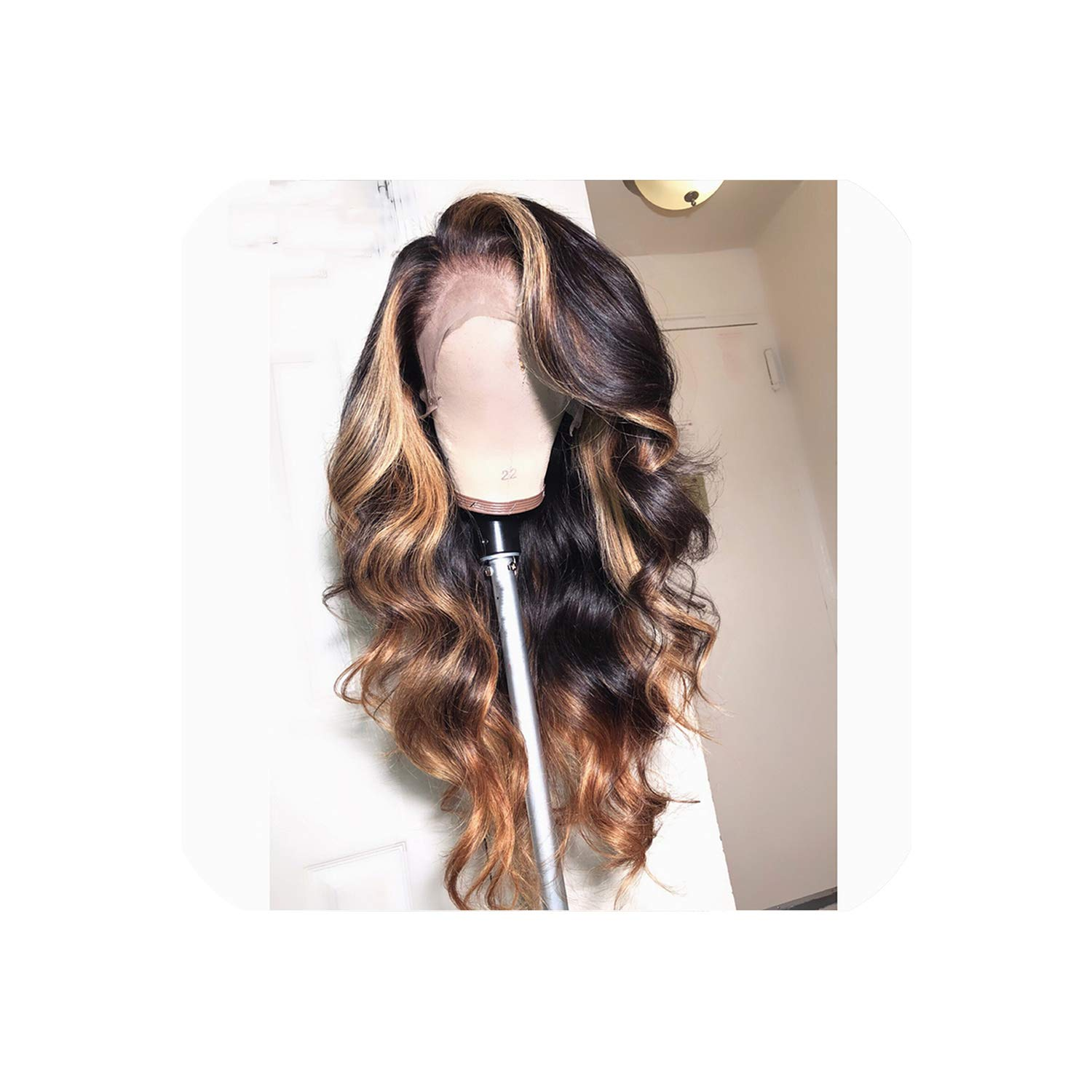 13X6 Deep Part Lace Front Human Wigs Body Wave 180% Density Brazilian Remy Human Pre-Plucked Hairline,16Inches,130%,13X6Lace Front Wig