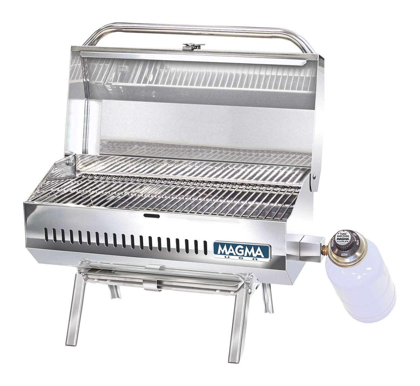 B0018Y4SXW Magma Products, Conniosseur Series Gas Grills, Propane, LPG, Stainless Steel 71sldlMzQgL