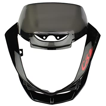 Sai Sai 178 Headlight Visor With Glass For Hero Cbz Xtreme Black