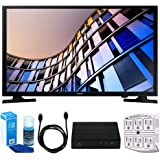 Samsung UN32M4500 32-Inch 720p Smart LED TV (2017 Model) w/ Tuner Bundle Includes, HD Digital TV Tuner, SurgePro 6-Outlet Surge Adapter w/ Night Light, 6ft. HDMI Cable & Screen Cleaner For LED TVs