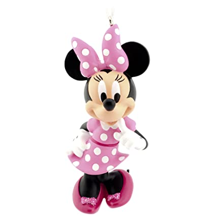 Amazon Com Hallmark Disney Minnie Mouse Bowtique Christmas Ornament