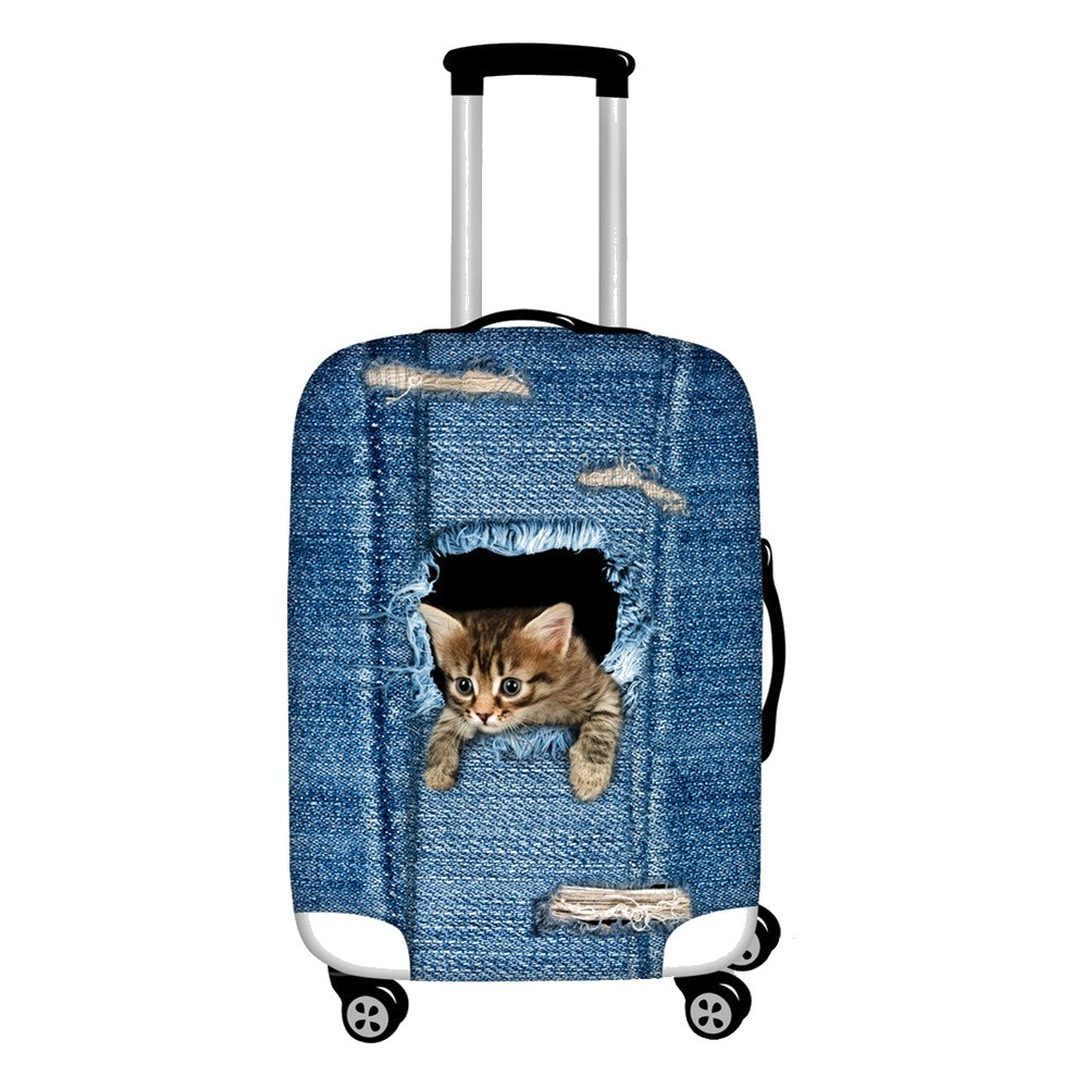Cat suitcase cover Kids Cute Cat Print  Lunch Bag, Pencil Case, Suitcase Cover, 17  Backpack,ipad bags, Drawstring Backpack Set