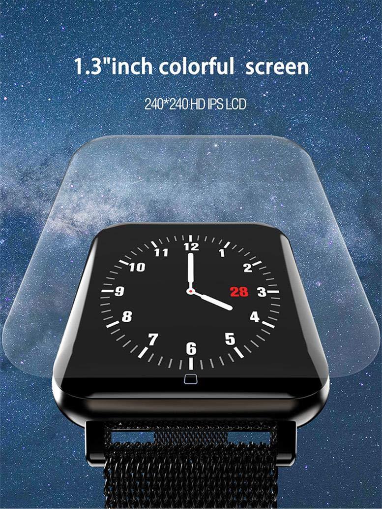 FANZIFAN Reloj Inteligente Pulsera Inteligente Correa magnética ...