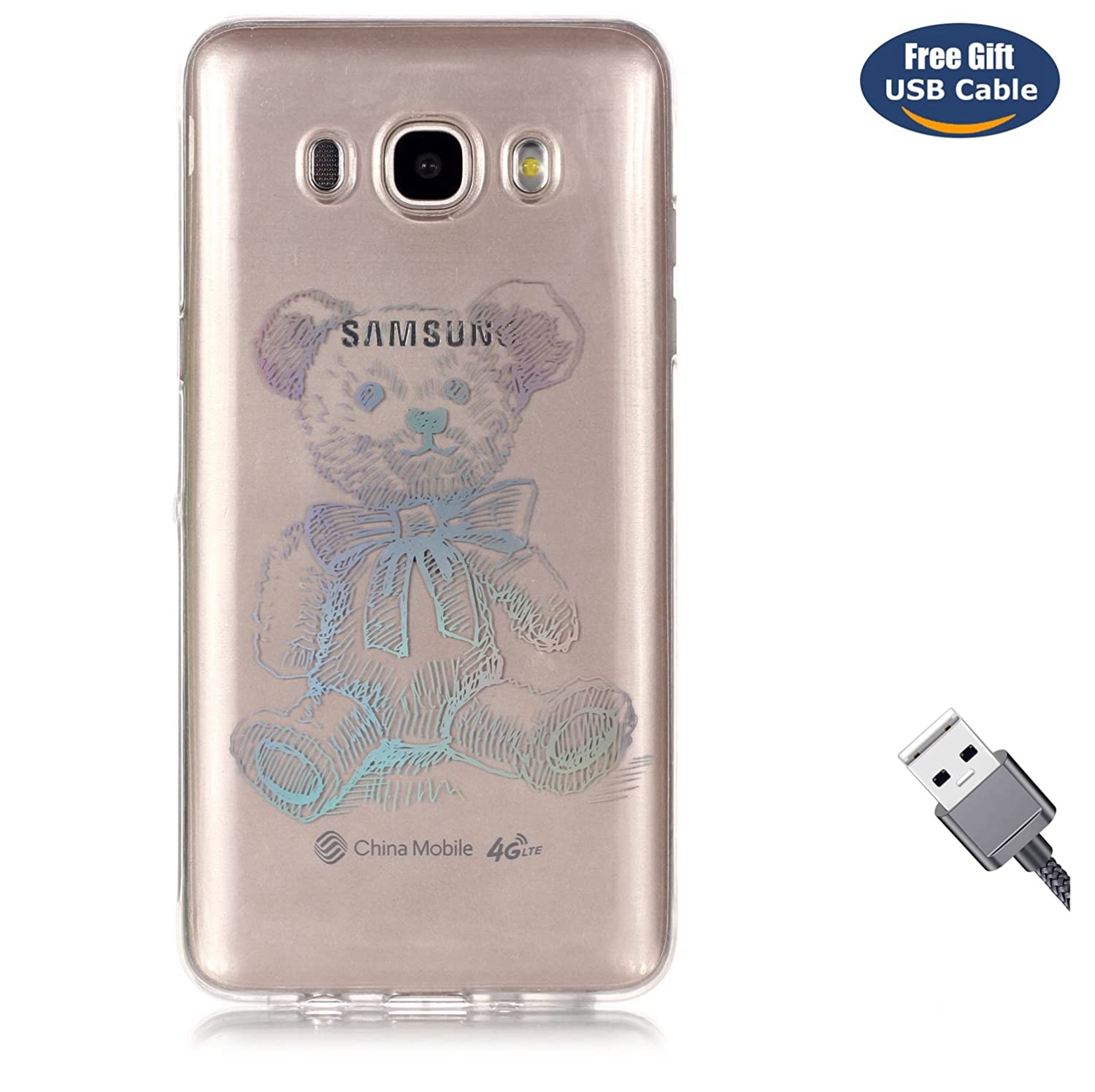 Galaxy J3 2017 case, Galaxy J3 2017 cover, Aireratze Glitter Bling [Laser Technology] Ultra Slim Soft Premium Gel TPU Fashion Thin Cover Cute Gift Natural Scenery Back Bumper Rubber Non-slip Shockproof Protective Case for Samsung Galaxy J3 2017(Butterflies