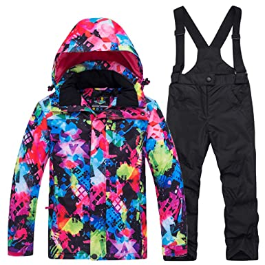 Amazon.com  Unisex Children s Ski Jacket Pants Insulated Snow Suit ... b8c542b47
