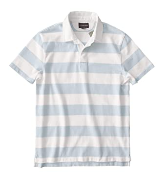J Crew Short Sleeve Polo Mens Size Small Blue Striped Rugby Casual Collar N Polos