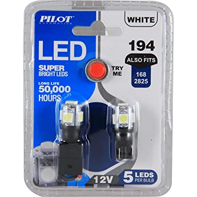 Pilot Automotive (IL-194W-5-AM) White 5-SMD LED Dome Light Bulb - 2 Piece: Automotive