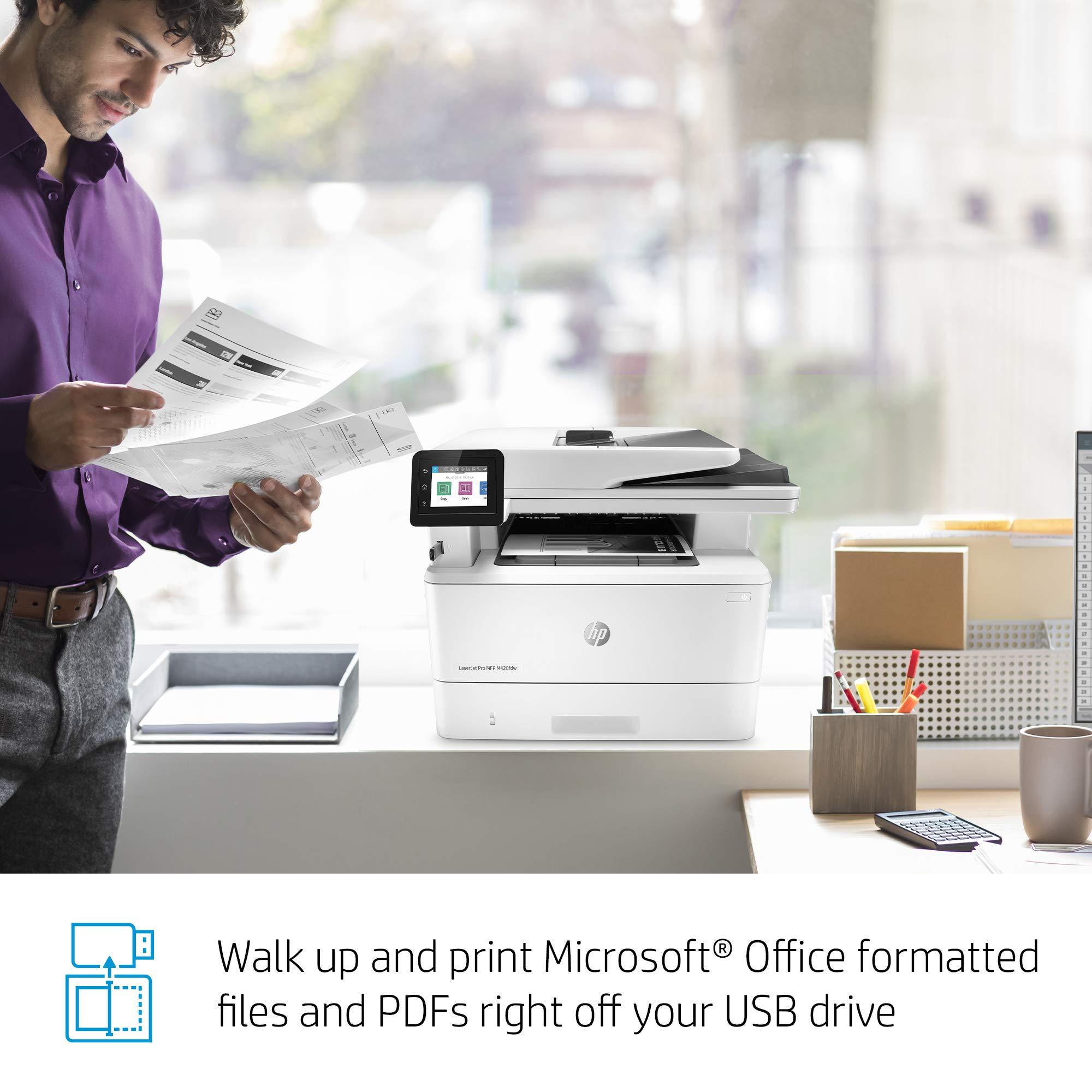 HP LaserJet Pro Multifunction M428fdw Wireless Laser Printer (W1A30A) by HP (Image #12)
