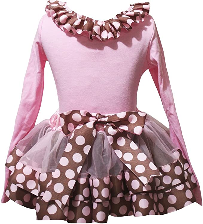 Petitebella Love Bunny White L//s Shirt Dots Red Pink Petal Skirt Set Nb-8y