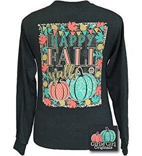 377c7ad05 Girlie Girl Originals Happy Fall Y'all Long Sleeve T-Shirt Dark Heather