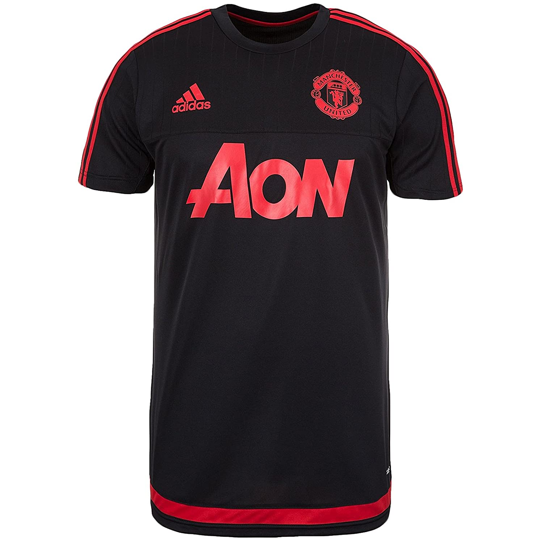 2015-2016 Man Utd Adidas Training Shirt (Black) B013JHM7REBlack Medium 38-40\