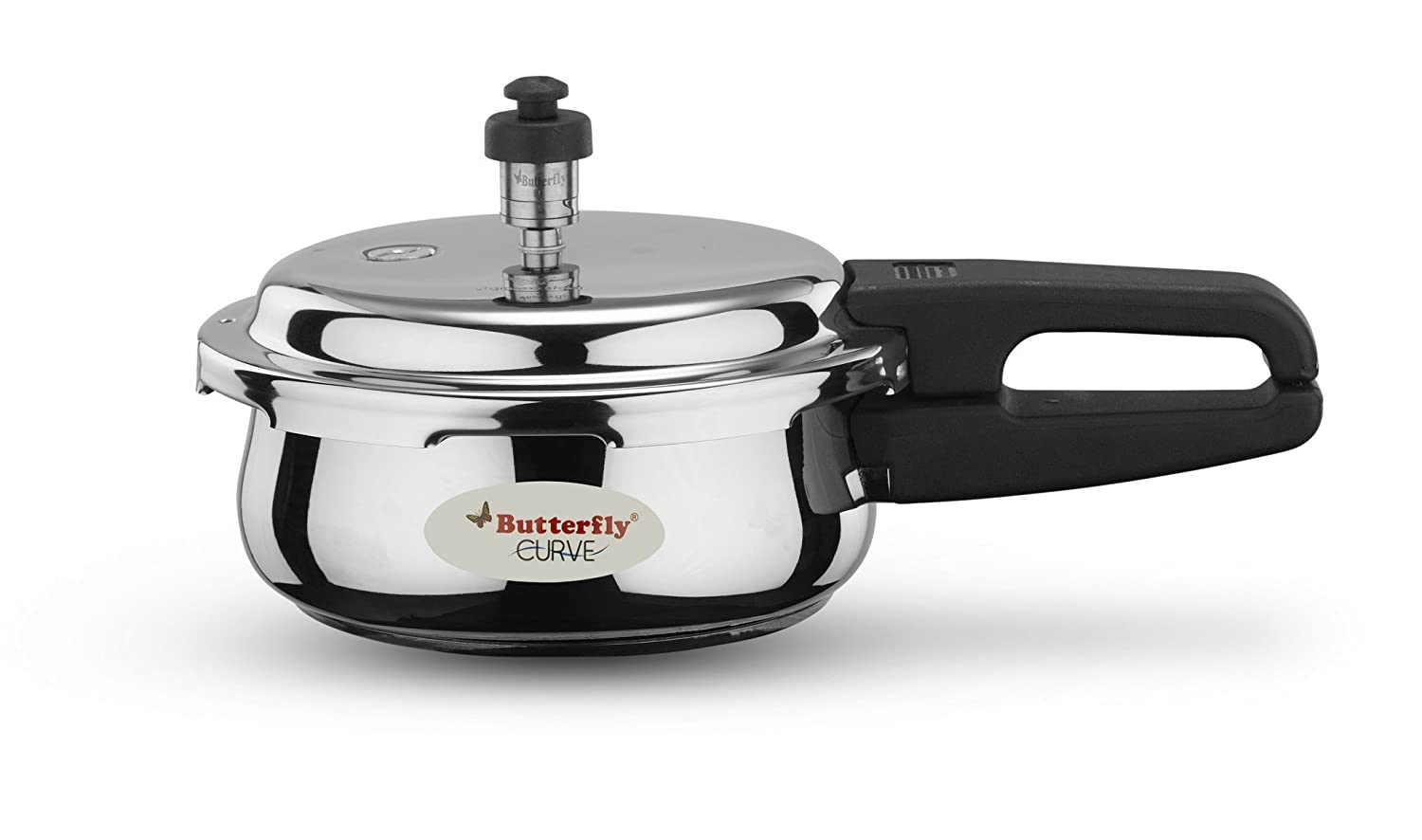 Butterfly Curve 2 Ltr Pressure Cooker, 2 Litres, Silver