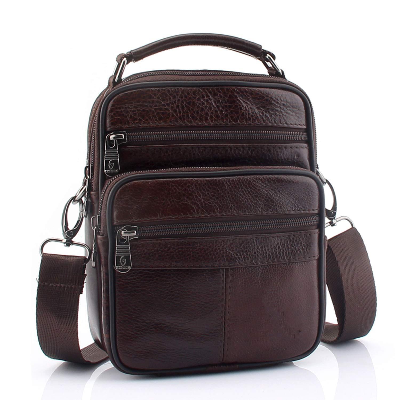 Leather Shoulder Bag Small Messenger Bags Men Travel Crossbody Bag Handbags Men Bag