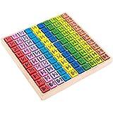 木製 教育玩具 九九のトレーニング用パズル かけ算 掛け算 練習 学習