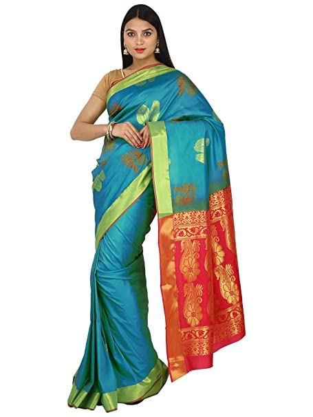 cdb3ee13082a14 Asha Creation Women s Uppada Pattu Silk Saree with Blouse (ACAS23 ...