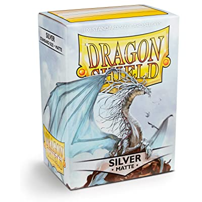 Arcane Tinman Sleeves: Dragon Shield Matte Silver, One Size AT-11008: Toys & Games