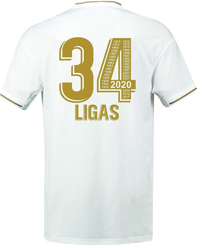 Real Madrid - 34 Ligas - Camiseta Oficial - Ganadora en 2020 de 34 Ligas - Todos los Años Mentionados: Amazon.es: Deportes y aire libre