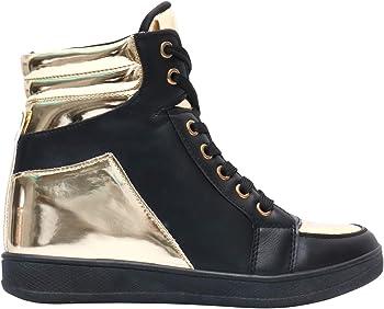 82765ebe6e KRISP Damen Schuhe Keilabsatz Turnschuhe Verschiedene Varianten